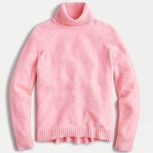 J crew super soft yarn pink turtleneck sweater